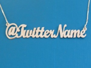 Twitter Name Necklace