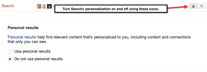 Search Plus settings