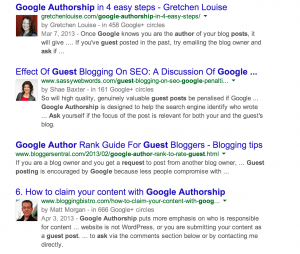 What Google Authorship looks like in search