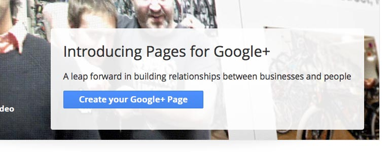 Google+ Pages Create a Page